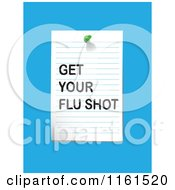 Clipart Of A Get Your Flu Shot Note Written On Ruled Paper On Blue Royalty Free Vector Illustration by tdoes