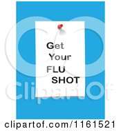 Clipart Of A Get Your Flu Shot Note On Blue Royalty Free Vector Illustration by tdoes