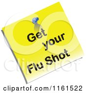 Yellow Get Your Flu Shot Memo