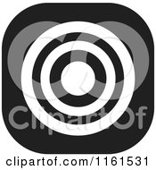 Clipart Of A Black And White Bullseye Icon Royalty Free Vector Illustration