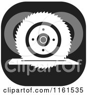 Clipart Of A Black And White Circular Saw Icon Royalty Free Vector Illustration