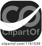 Clipart Of A Black And White Swoosh Icon Royalty Free Vector Illustration