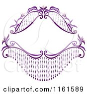 Decorative Purple Frame With Flowers