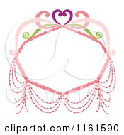 Decorative Pink Frame With A Heart