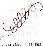 Clipart Of A Decorative Swirl Design Element 2 Royalty Free Vector Illustration by Cherie Reve