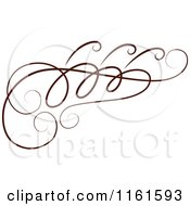 Clipart Of A Decorative Swirl Design Element Royalty Free Vector Illustration by Cherie Reve