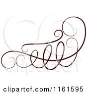 Clipart Of A Decorative Swirl Design Element 4 Royalty Free Vector Illustration by Cherie Reve