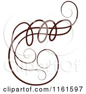 Clipart Of A Decorative Swirl Design Element 3 Royalty Free Vector Illustration