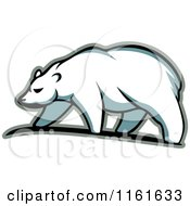 Clipart Of A Walking Polar Bear In Profile 2 Royalty Free Vector Illustration by Vector Tradition SM