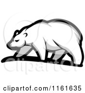 Clipart Of A Walking Polar Bear In Profile 4 Royalty Free Vector Illustration by Vector Tradition SM