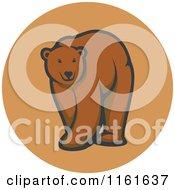 Walking Bear In A Circle