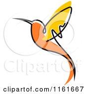 Simple Orange Hummingbird 2