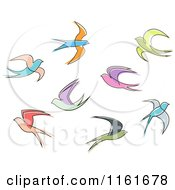 Clipart Of Simple Swallows Royalty Free Vector Illustration by Vector Tradition SM