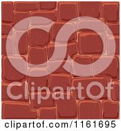 Clipart Of A Red Seamless Stone Background Royalty Free Vector Illustration by Vector Tradition SM