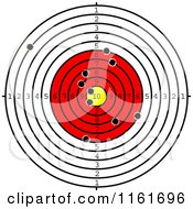 Clipart Of A Shooting Range Target With Bullet Holes Royalty Free Vector Illustration by Vector Tradition SM