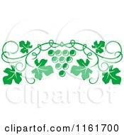 Clipart Of A Green Grape Vine And Fruit Page Border Royalty Free Vector Illustration by Vector Tradition SM