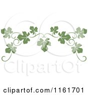 Clipart Of An Olive Green Grape Vine Page Border Royalty Free Vector Illustration by Vector Tradition SM