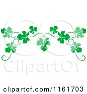 Clipart Of A Green Grape Vine Page Border Royalty Free Vector Illustration