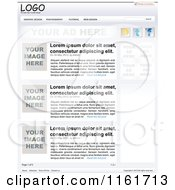 Clipart Of A Website Template With Sample Text Royalty Free Vector Illustration