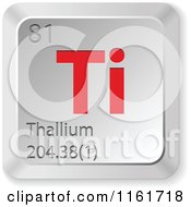 Clipart Of A 3d Red And Silver Thallium Chemical Element Keyboard Button Royalty Free Vector Illustration
