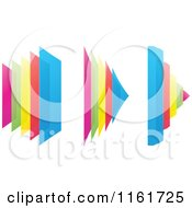 Clipart Of Colorful Squares And Pyramids Royalty Free Vector Illustration