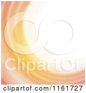 Clipart Of An Orange Wave Background Made Of Dots Royalty Free Vector Illustration by Andrei Marincas