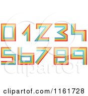 Clipart Of Colorful Lined Numbers 0 Through 9 Royalty Free Vector Illustration by Andrei Marincas