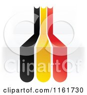 Clipart Of A Belgium Flag Over 3d Steps Royalty Free Vector Illustration by Andrei Marincas