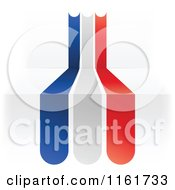 Clipart Of A French Flag Over 3d Steps Royalty Free Vector Illustration by Andrei Marincas