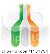 Clipart Of An Ireland Flag Over 3d Steps Royalty Free Vector Illustration by Andrei Marincas
