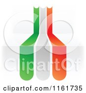 Clipart Of An Italian Flag Over 3d Steps Royalty Free Vector Illustration