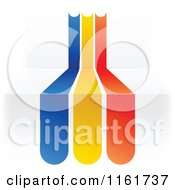 Clipart Of A Romanian Flag Over 3d Steps Royalty Free Vector Illustration