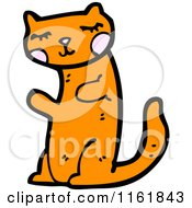 Cartoon Of A Ginger Cat Royalty Free Vector Illustration by lineartestpilot