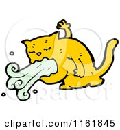 Cartoon Of A Barfing Ginger Cat Royalty Free Vector Illustration by lineartestpilot