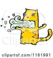 Cartoon Of A Barfing Ginger Cat Royalty Free Vector Illustration