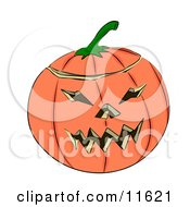Carved Halloween Jack O Lantern Pumpkin Clipart Illustration