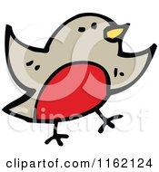 Cartoon Of A Robin Royalty Free Vector Illustration by lineartestpilot