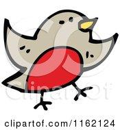 Cartoon Of A Robin Royalty Free Vector Illustration