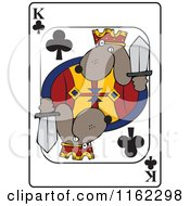 Dog King Club Playing Card