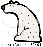 Cartoon Of A Polar Bear Sitting Royalty Free Vector Illustration by lineartestpilot