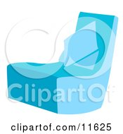 Blue Chair With A Pillow Clipart Illustration
