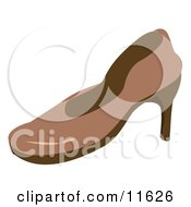 Brown High Heel Shoe