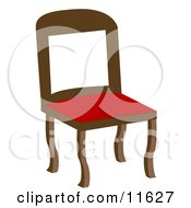 Chair With A Red Seat Clipart Illustration