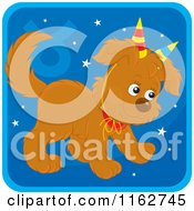 Cartoon Of A Taurus Horoscope Zodiac Astrology Puppy Royalty Free Vector Clipart