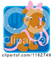 Cartoon Of A Virgo Horoscope Zodiac Astrology Puppy Royalty Free Vector Clipart