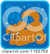 Cartoon Of A Scorpio Horoscope Zodiac Astrology Puppy Royalty Free Vector Clipart
