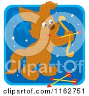 Cartoon Of A Sagittarius Horoscope Zodiac Astrology Puppy Royalty Free Vector Clipart