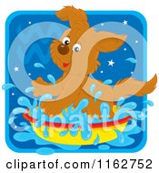 Cartoon Of An Aquarius Horoscope Zodiac Astrology Puppy Royalty Free Vector Clipart