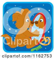 Cartoon Of A Gemini Horoscope Zodiac Astrology Puppy Royalty Free Vector Clipart