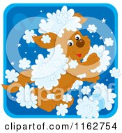 Cartoon Of An Aries Horoscope Zodiac Astrology Puppy Royalty Free Vector Clipart